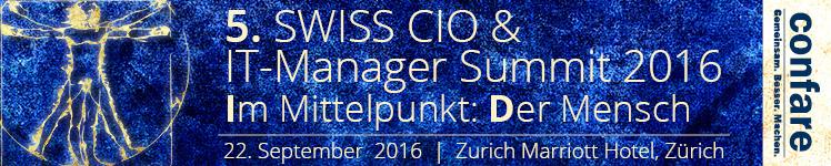 Swiss CIO IT-Manager Summit 2016