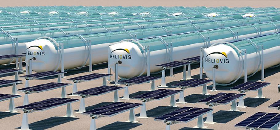 Aufblasbare Solarkonzentratoren aus Kunststofffolien (© Heliovis AG)